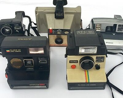 Lot of 5 Polaroid Instant Cameras UNTESTED Sold As Is Parts