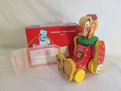 Vintage Fisher Price Squeaky the Clown Limited Edition Commemorative for Toyfest