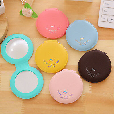 Double Side Small Makeup Mirrors Pocket Travel Mini Cosmetic Mirror Candy Color