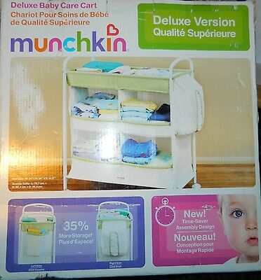 MUNCHKIN Deluxe Baby Care Rolling Organizer Diapering NURSERY ESSENTIAL Cart NEW