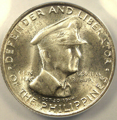 1947-S Philippines 50C 50 Centavos Coin ANACS MS65!