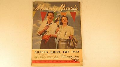 Massey Harris 1942 Buyer's Guide Sales Catalog Brochure Adv. 346 1-42 Tractors