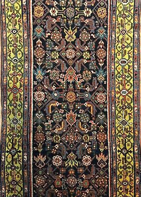 Marvelous Malayer - 1900s Antique Persian Rug - Tribal Runner - 3.1 x 11.1 ft.