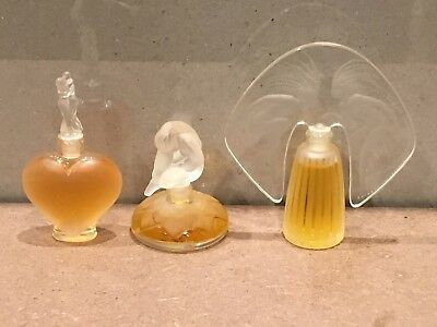 Lalique Miniature Perfume Collection of 3. Never Used.
