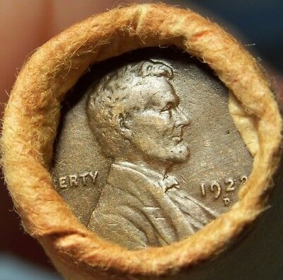 1922-D Wheat/1884 Indian Ends Unsearched Estate Roll Wheat/indian Cents #1980