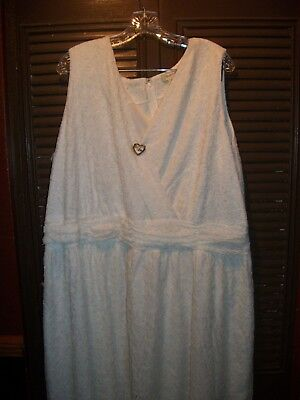 white lace jacket dress wedding or mother of the bride size 28w