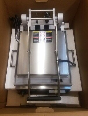 """Star GR14SN 14"""" Commercial Sandwich Panini Grill (Smooth), 240 Volt NEW in Box!"""