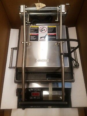 """Star CG10IT2 10"""" Commercial Sandwich Panini Grill (Grooved), 120V NEW in Box!"""