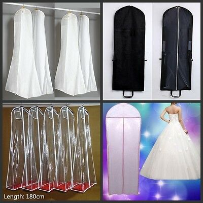 Wedding Dress Dust Plastic Protector Bag Garments Gown Storage 1.8m or 1.5m