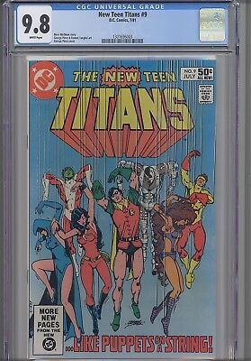 New Teen Titans #9  CGC 9.8  1981 DC Comic 2nd app.Terminator Cover:  New Frame