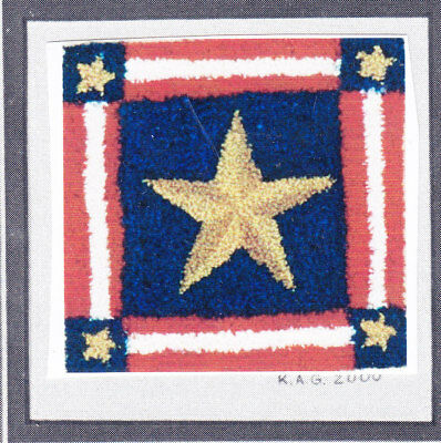 Stars and Stripes  Punch needle embroidery pattern on cloth