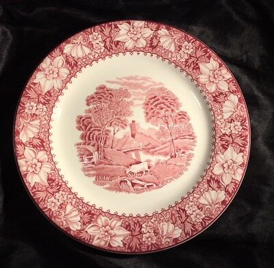 Wood & Sons Colonial Pink Luncheon Plate