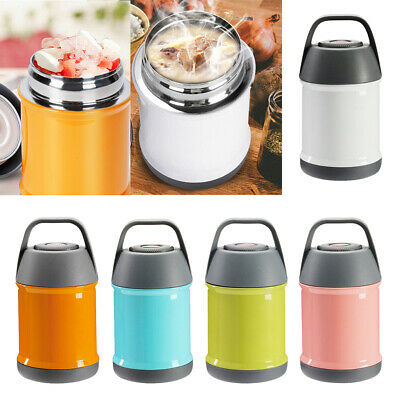 5Colors Vacuum Insulated Food Jar Stainless Steel Bottle Container 500ml