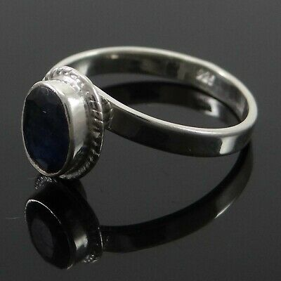 925 Sterling Silver Sapphire Ring Women Indian Fashion Jewelry