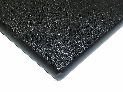"Black Marine Board HDPE Polyethylene Plastic Sheet 1/4"" x 24"" x 24""  Textured"