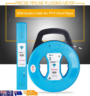 Hose Pipe Clog Blockage Positioning Inspection System -20M PVC STEEL Cable Snake