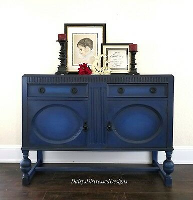 Buffet jacobean, Shabby Chic, Neopolonic Blue