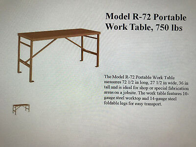 Knaack Industrial Work Bench. Portable. Used twice. Flawless.