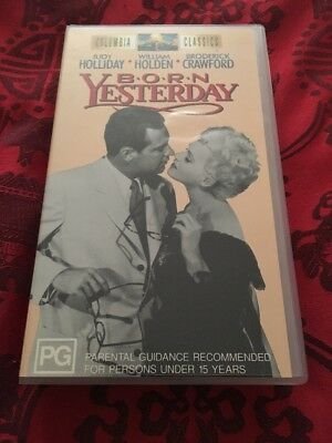 Born Yesterday - Judy Holliday, William Holden  -  Vhs Video Tape B/W