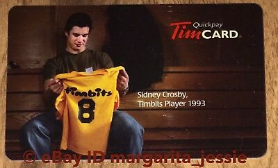 Tim Hortons Canada Gift Card Sidney Crosby Timbits 2009 No Value Vl10285C