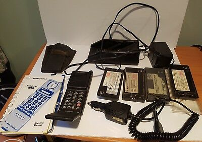 Motorola vintage mobile phone micro Tac 1950 collectable rare box batteries