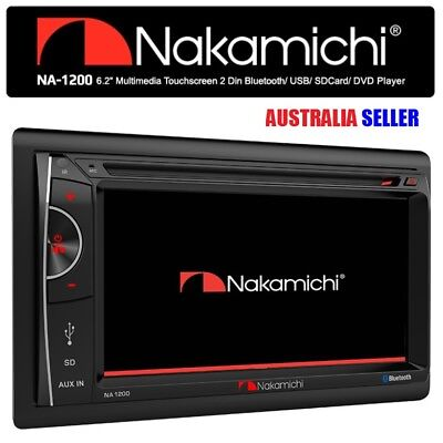 """NEW NAKAMICHI NA1200 6.2"""" HD Screen 2 Double DIN Car DVD Bluetooth Player Stereo"""