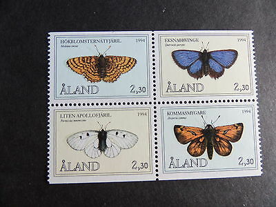 Aland 1994 Butterflies SG81/4 block of 4 MNH UM unmounted mint