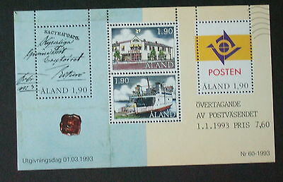 Aland 1993 Postal Autonomy Post Office Miniature Sheet MS65 MNH UM unmounted