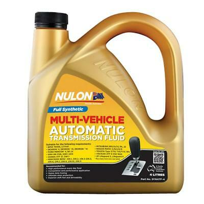 Nulon Full Synthetic Multi Vehicle Automatic Transmission Fluid 4L SYNATF-4 Free