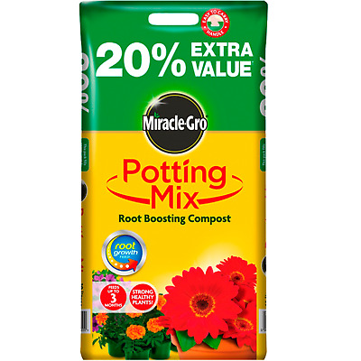 Miracle Gro Potting Mix 8L Compost Soil Root Boosting Food Plants Garden Flowers