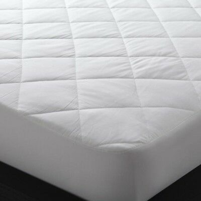 New SUPER KING 204 x 204 100% Cotton Mattress Protector Fits up to 60cm walls