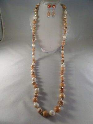 Flapper Style Necklace and Earrings E1