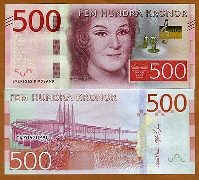 SWEDEN   100  KRONOR  2016 Prefix C  P 71  AU Uncirculated