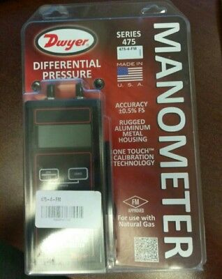 Nib Dywer 475-4-Fm Hand Held Digital Manometer - Up To 10 Psi - Free Shipping!
