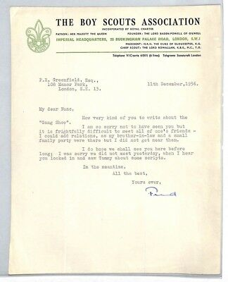 BS203 1956 GB The Boy Scouts Association London Letter PTS