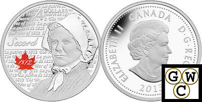 2013 'Laura Secord - Heroes of 1812' Proof $4 Silver Coin .9999 Fine (13234)