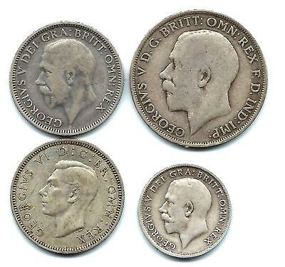 1921 FLORIN , 1932 and 1940 shillings and 1915 6d