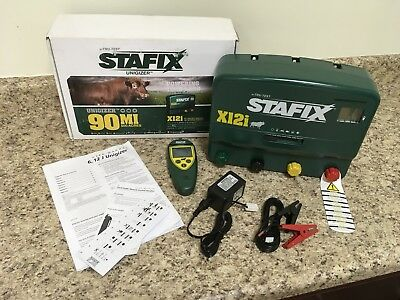Stafix X12i Unigizer 90 Mile Fence Charger Includes Remote