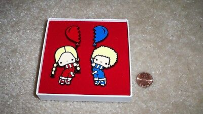 Loot Crate Sanrio Exclusive Patty And Jimmy Enamel Pin Set - Free Shipping