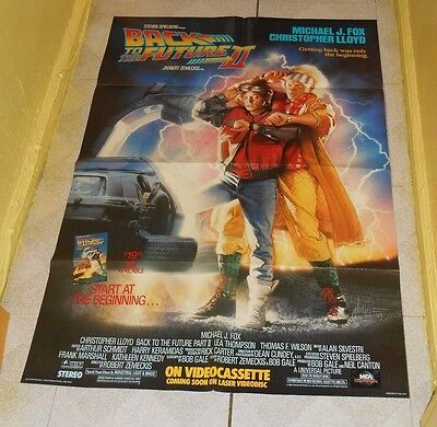 original BACK TO THE FUTURE PART II video store poster Michael J. Fox