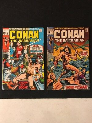 Vintage Marvel Comics 1970's Conan The Barbarian Huge Lot High Grade