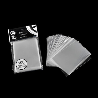 100pcs Card Protector Game Sleeves Protection Clear 65 x 90mm Transparent HYH