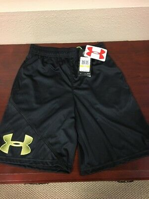 NWT Under Armour Boys' Tech Shorts, Volt / Black, Youth Medium Wow