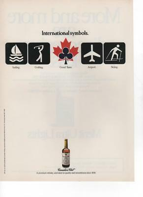 1988 - Canadian Club Whisky : International Symbols  - Vintage Print Ad