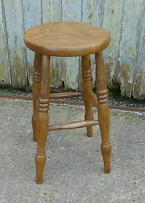 A Victorian Ash and Elm Farmhouse Kitchen Stool