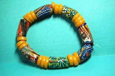Antique COOL VINTAGE Akoso Bodom?African Powder Glass Beads Ghana African Trade