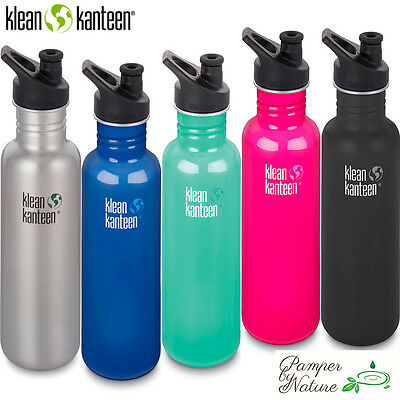 Klean Kanteen Stainless Steel Water Bottle 800ml - 5 Different Colours to choose