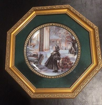 """""""Christmas With Trisha Romance"""" """"Star of Wonder"""" Collector Plate Framed Mint"""