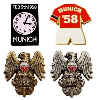 United Badge Selection Munich 61st Anniversary 1958 Flowers of Manchester Gift