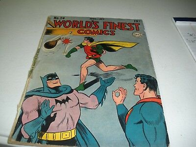 World's Finestr Comics #24  Batman Robin & Superman Sept/Oct 1946 Gd-